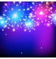holiday firework colorful for vector image