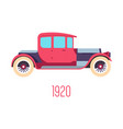 1920s retro car isolated icon vehicle history vector image vector image