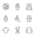 9 drawn icons vector image vector image