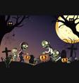 a a halloween celebration vector image