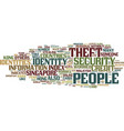asian countries worried about identity theft text vector image vector image