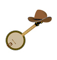 banjo and hat vector image vector image