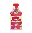 Beet juice Juice from fresh vegetables Beets in a vector image vector image