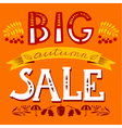 Big autumn sale lettering composition vector image