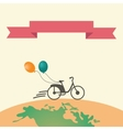 Bike silhouette with the banner vector image