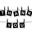 Black and white thank you card vector image