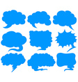 Blue speech bubbles in different shapes vector image vector image
