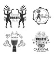 Brazilian Carnival big set of logo and emblem vector image vector image