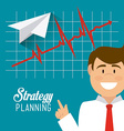 Business strategy design vector image vector image