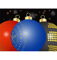 Christmas baubles close up background vector image vector image