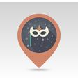 Christmas festive mask flat pin map icon vector image