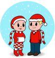 christmas kids vector image vector image