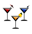 Coctail martini party vector image