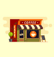 coffee shop house cafe building vector image vector image