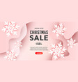 creative merry christmas composition with 3d vector image vector image