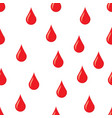 drops of blood seamless pattern vector image