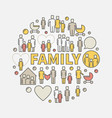 family colorful vector image vector image