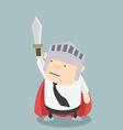 Fat Businessman sword vector image vector image