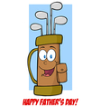 Fathers Day Greeting Card With Golf Bag vector image vector image