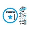 Favourites Day Flat Icon with Bonus vector image vector image