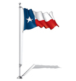 Flag Pole Texas vector image vector image