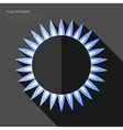 flat gas burner icon vector image