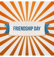 Friendship Day Badge with Ribbon and Shadow vector image vector image