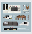 furniture and home decoration set vector image