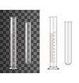 glass test tube chemistry realistic flask vector image