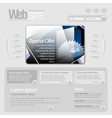 Gray website template 960 grid vector | Price: 3 Credits (USD $3)