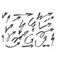 hand drawn grunge arrows set vector image vector image