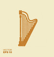 harp icon with scuffed effect vector image vector image