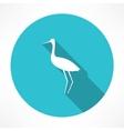 heron icon vector image vector image