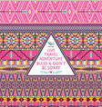 Hipster seamless tribal pattern vector image