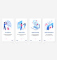 isometric artificial intelligence concept ux ui vector image vector image