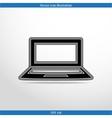 laptop web icon vector image vector image