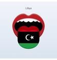 Libya language Abstract human tongue vector image vector image
