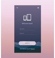 login screen ui design vector image vector image