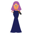 long blue dress or color vector image