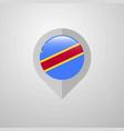 map navigation pointer with comoros flag design vector image vector image