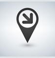 map pointer with an arrow icon vector image vector image