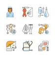 medical symbols isolated vector image vector image
