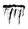 Melting icicles icon black simple style vector image