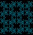 mint blue green tartan vintage seamless on black vector image vector image