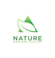 modern negative space leaf and triangle nature vector image