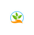 nature care logo icon design vector image
