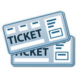 pass tickets template vector image