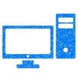 Pc Grainy Texture Icon vector image vector image