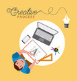 people working creative process vector image vector image