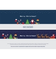 Pixel christmas banners set vector image